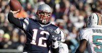 New England QB Tom Brady in Action vs the Miami Dolphins