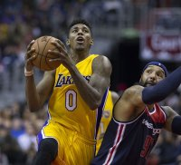 Nick Young driving to the basket