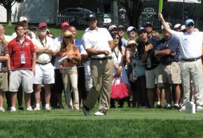 Romo teeing off at the AT&T National in 2009