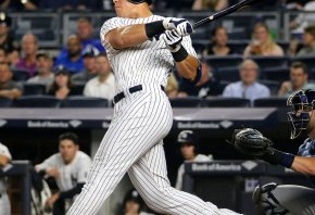 Judge swinging the bat