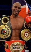 Julius Indongo with his title belts