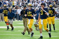 Jim Harbaugh and the UM QBs.
