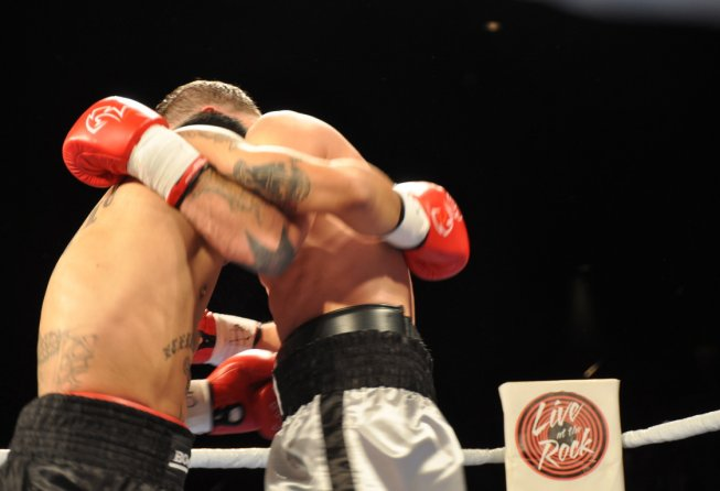 boxers in the clinch