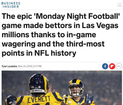 Business Insider story sportsbooks getting crushed