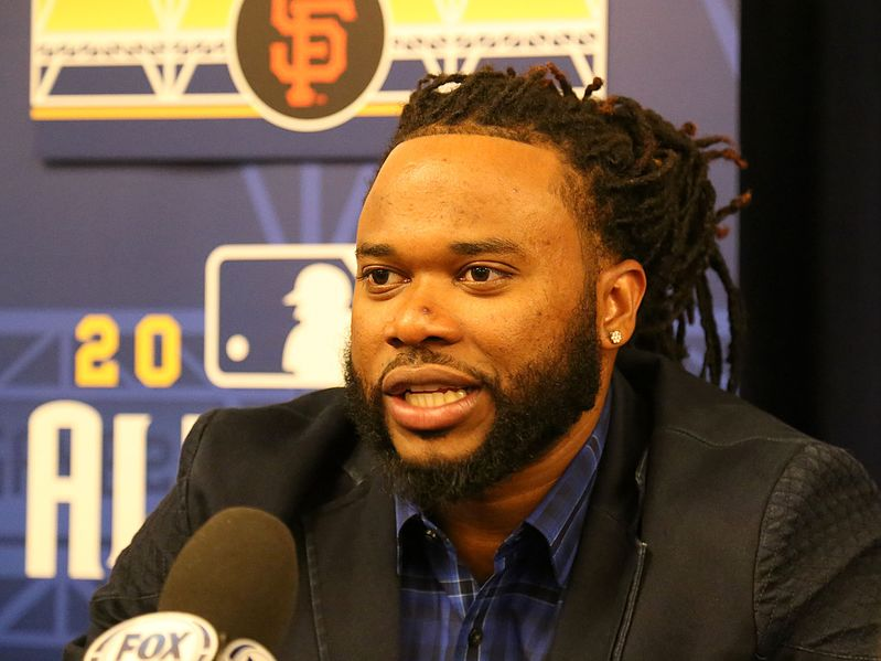 SFG's Johnny Cueto at a press conference