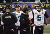 Blake Bortles on the Jags' sideline