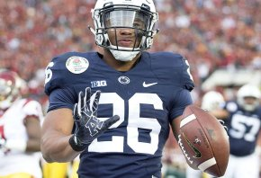 Saquon Barkley during the 2017 Rose Bowl