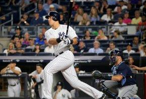Aaron Judge at bat for the Yankees