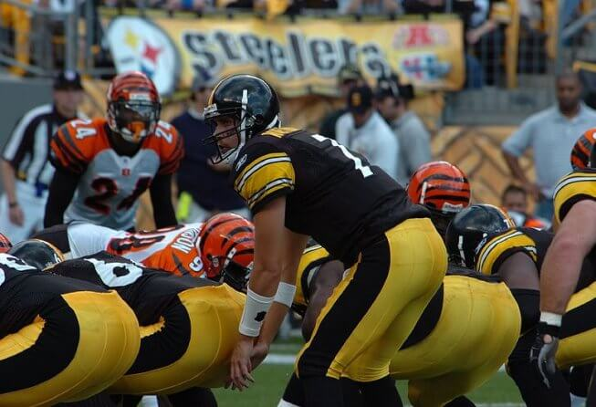 Ben Roethlisberger Ready for the snap