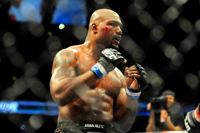 "Quinton ""Rampage"" Jackson during a bout against Jon ""Bones"" Jones during UFC 135"
