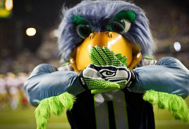Blitz, the Seahawks mascot