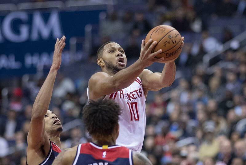 Houston Rockets' Eric Gordon goes for a layup