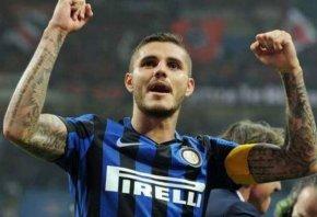 Inter's Mauro Icardi celebrates