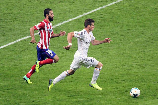 Gareth Bale at a Madrid Derby.