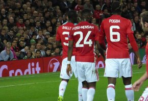 Manchester United's Pogba, Fosu-Mensah and Bailly