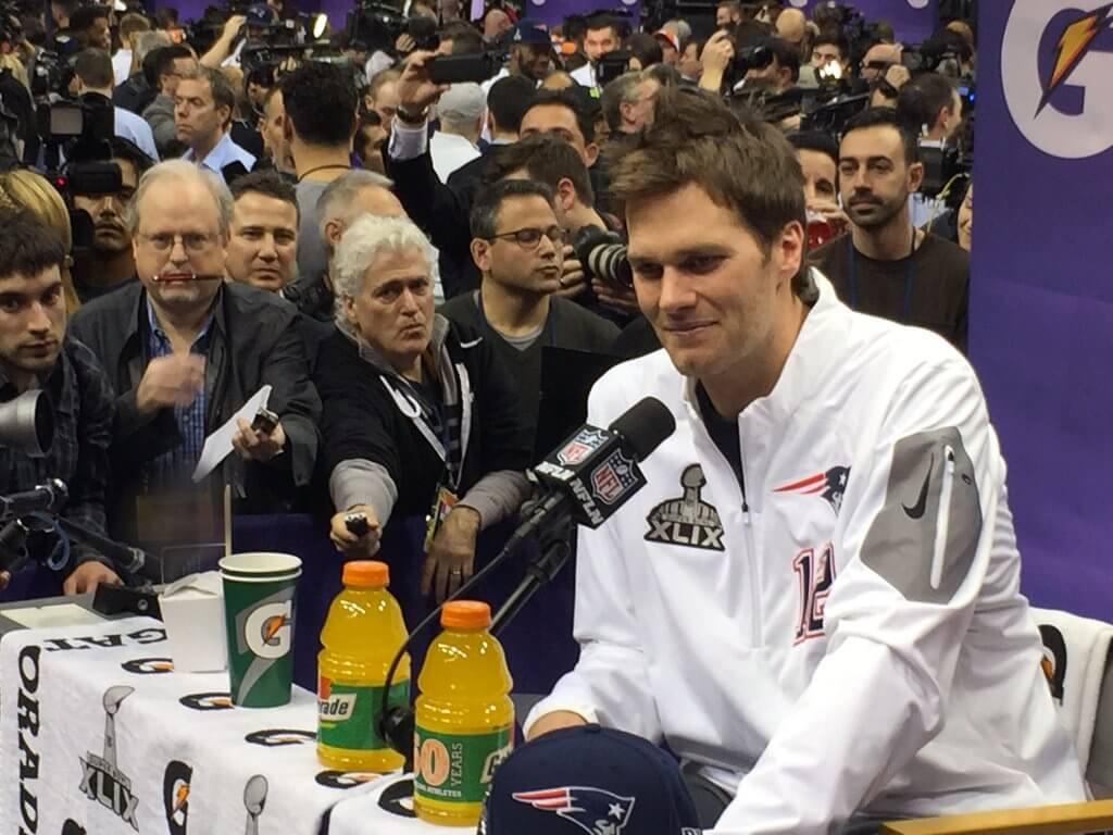 Tom Brady Super Bowl Media Days