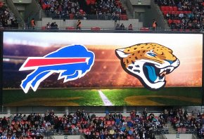 Bills vs Jaguars logos