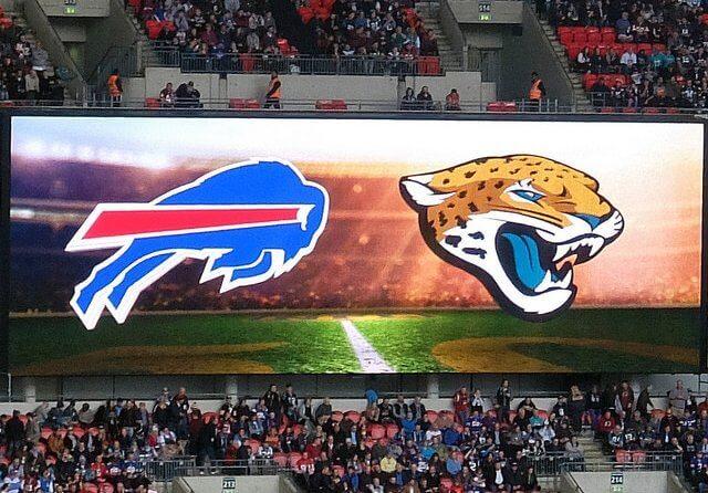 Bills vs Jaguars logos
