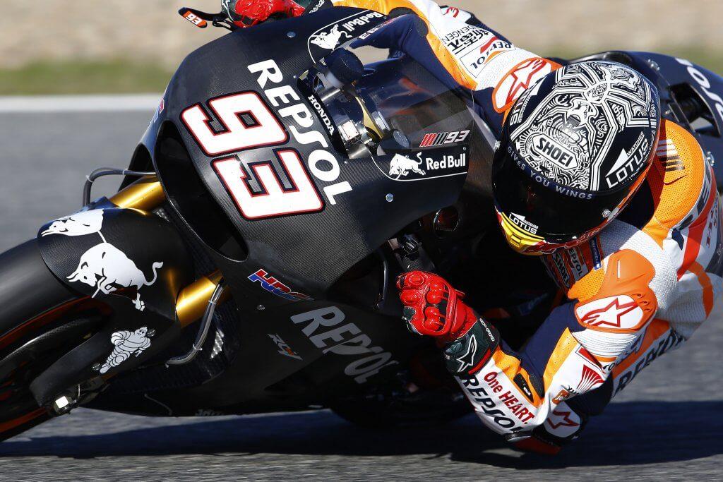 Marquez, still testing