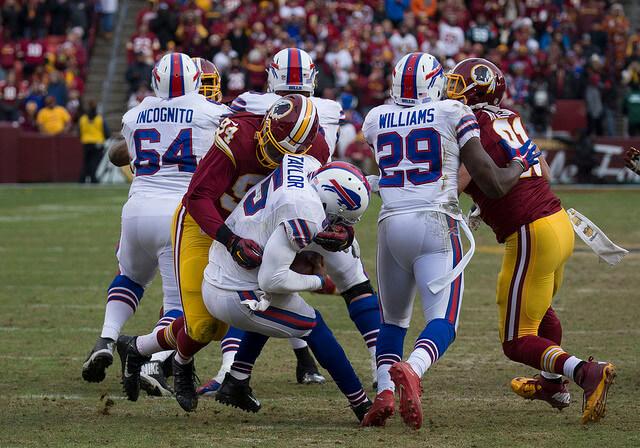 Buffalo's Tyrod Taylor taking a sack