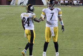Steelers WR Antonio Brown and QB Ben Roethlisberger