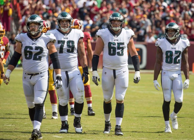 Three Eagles offensive lineman and WR Torrey Smith