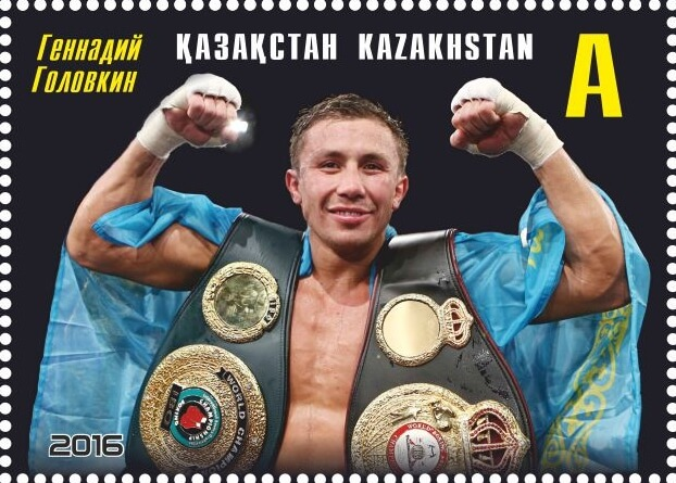 Golovkin and his belts.
