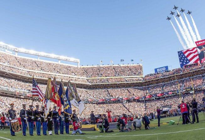 Pre-game festivities at Super Bowl 50