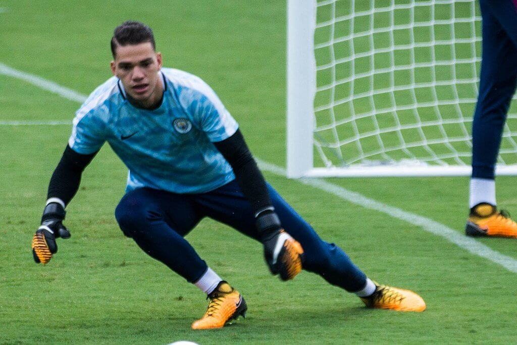Ederson with Manchester City
