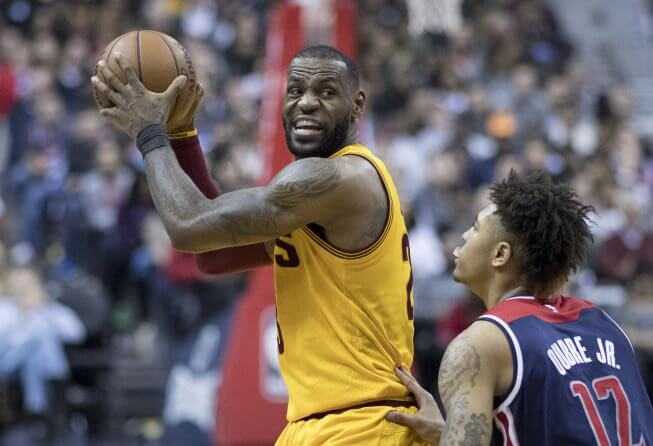 LeBron James and Kelly Oubre Jr.