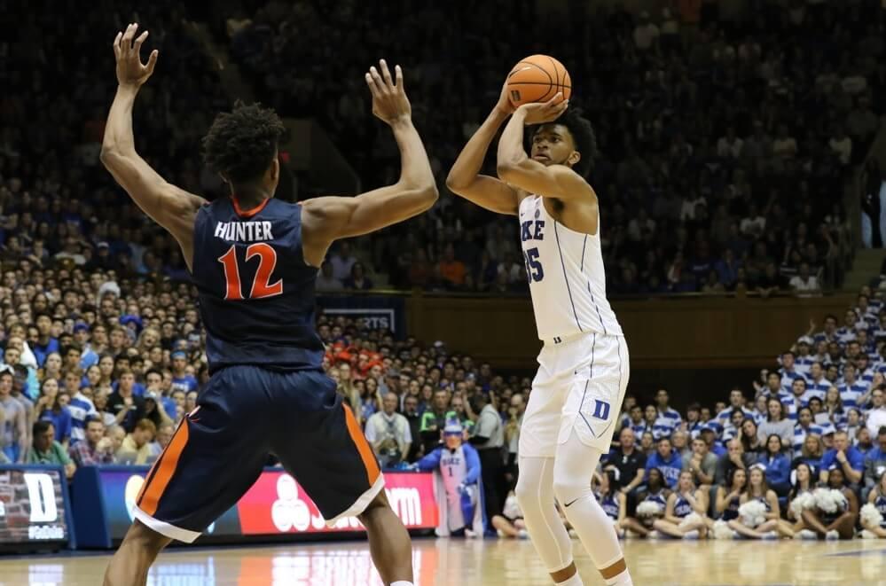 Duke's Marvin Bagley shooting a jumper