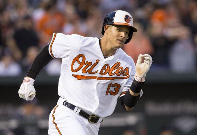 Manny Machado rounds the bases