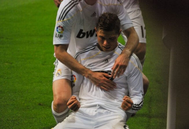 Ronaldo celebrates a goal