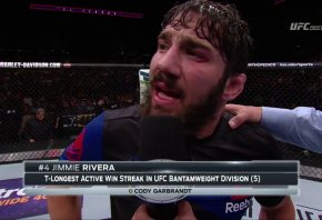 Jimmie Rivera octagon interview after a win.