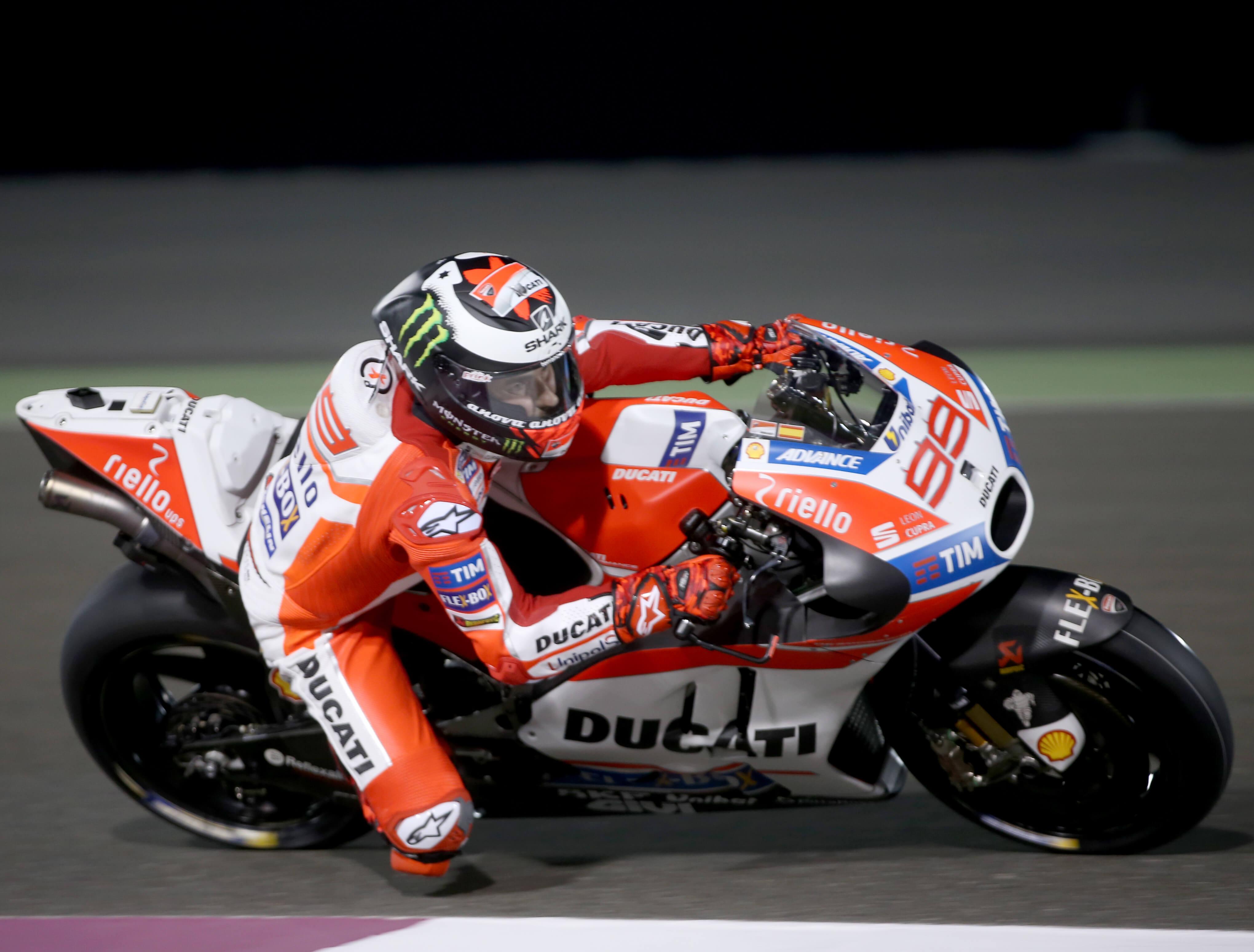 Ducati's Jorge Lorenzo