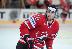 John Tavares playing for Team Canada