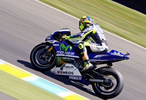 Valentino Rossi taking a turn