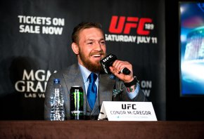 Conor McGregor during a press conference.