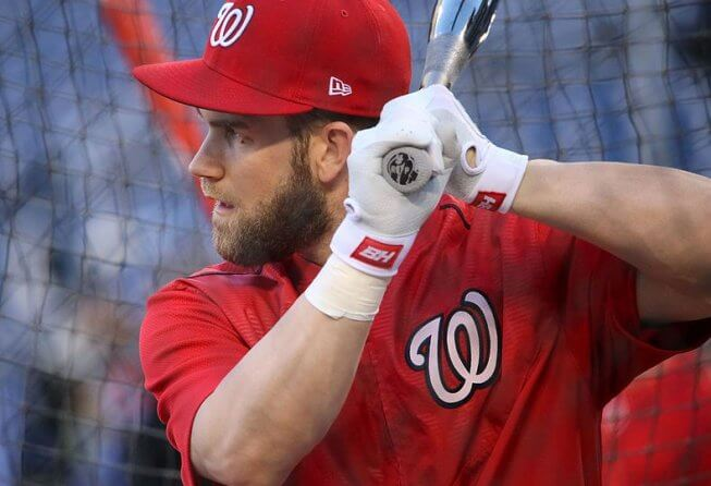 Outfielder Bryce Harper is a free agent