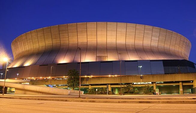 The New Orleans Saints play at the Louisiana Superdome