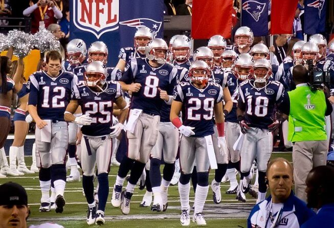 This is the third straight Super Bowl for the New England Patriots