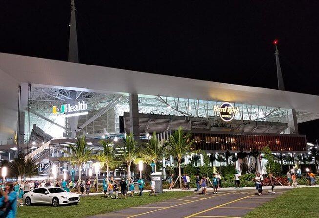 Hard Rock Stadium in Miami, FL