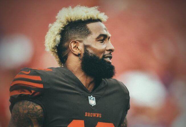 Odell Beckham Jr in a Cleveland Browns uniform.