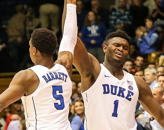 Duke freshman RJ Barrett and Zion Williamson will be lottery picks