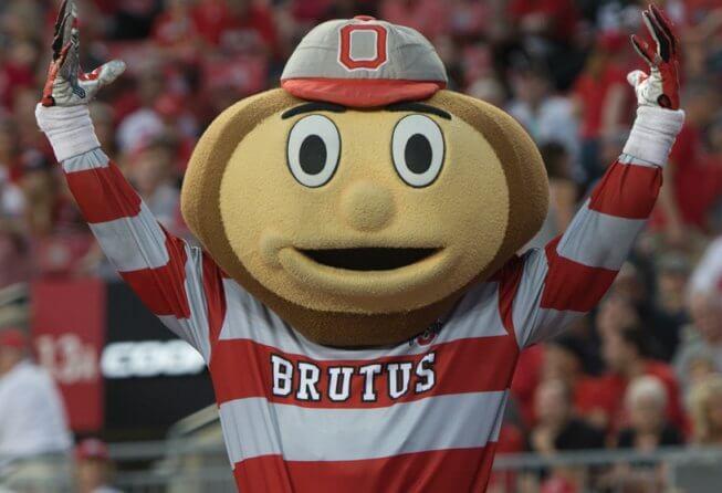 Ohio State mascot Brutus Buckeye