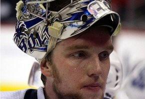 Close up of Tampa Bay's Andrei Vasilevsky