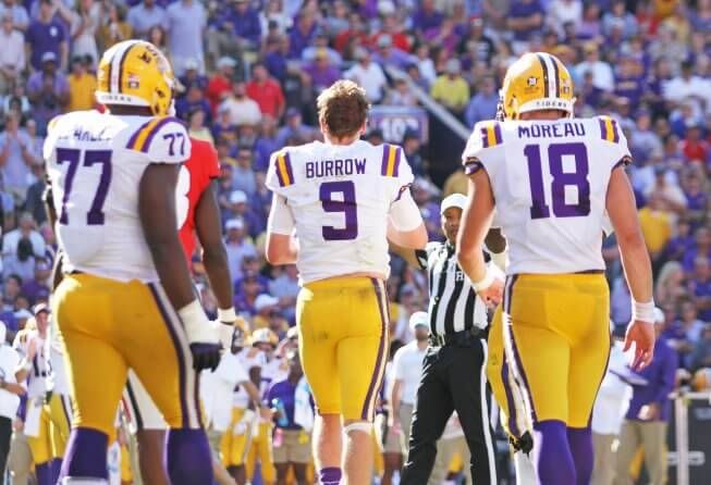 Joe Burrow and the LSU Tigers had a bye in Week 5, leading to his 2019 Heisman odds dropping slightly.