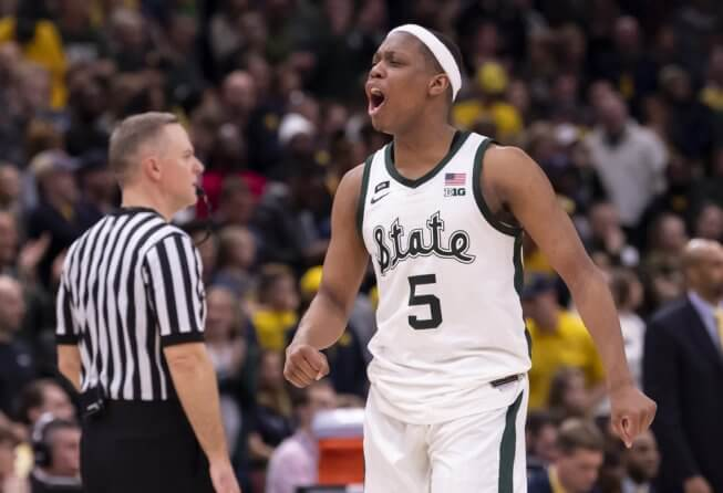 Michigan State Spartans guard Cassius Winston