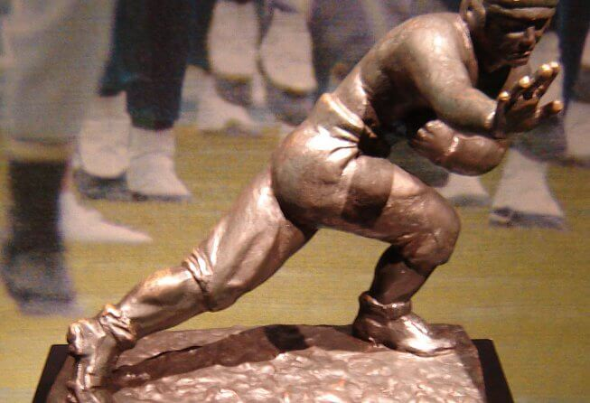 The iconic Heisman Trophy