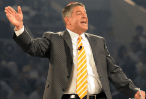 Auburn coach Bruce Pearl has his team undefeated through the first half of the 2019-20 season